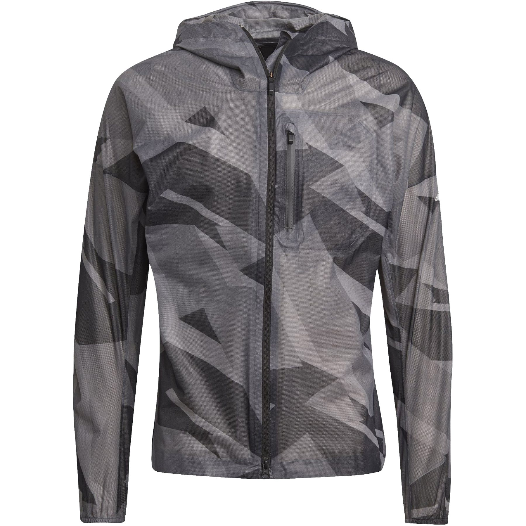 adidas Men's TERREX Agravic Graphic 2.5 Layer Rain Jacket - grey six GL1199