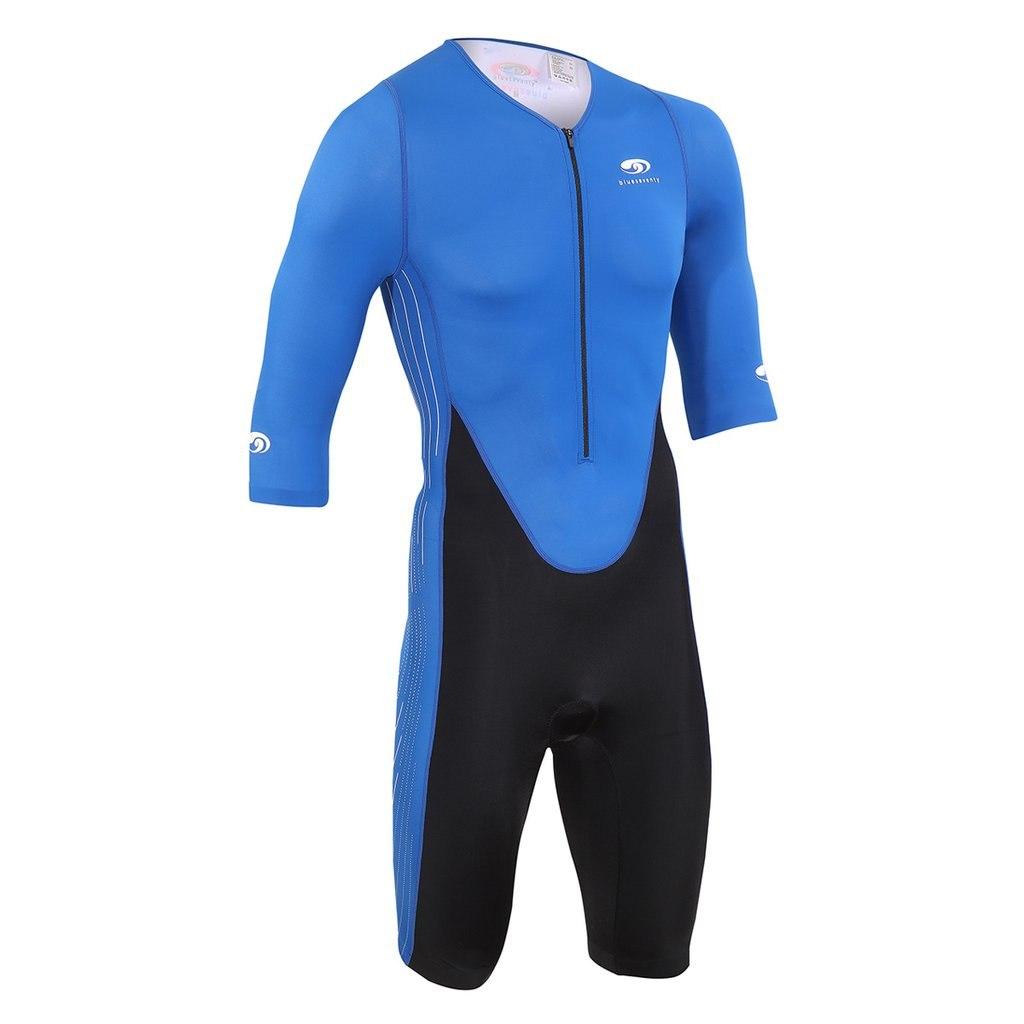 blueseventy TX2000 Short Sleeve Tri Suit Triathlon Anzug - black/blue