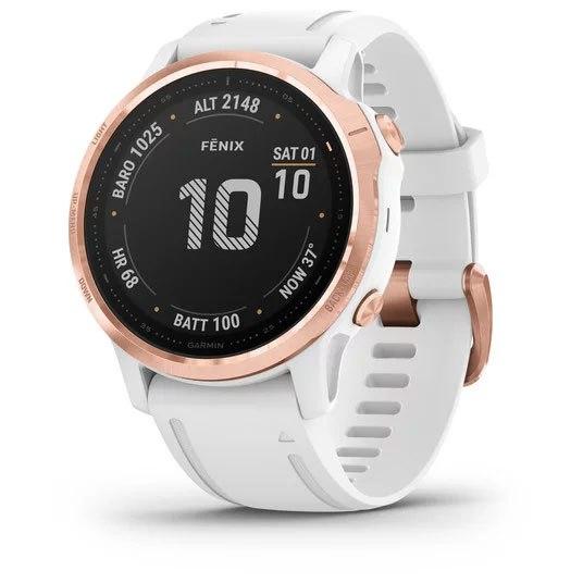 Garmin fenix 6s PRO GPS Smartwatch - weiß/rosegold