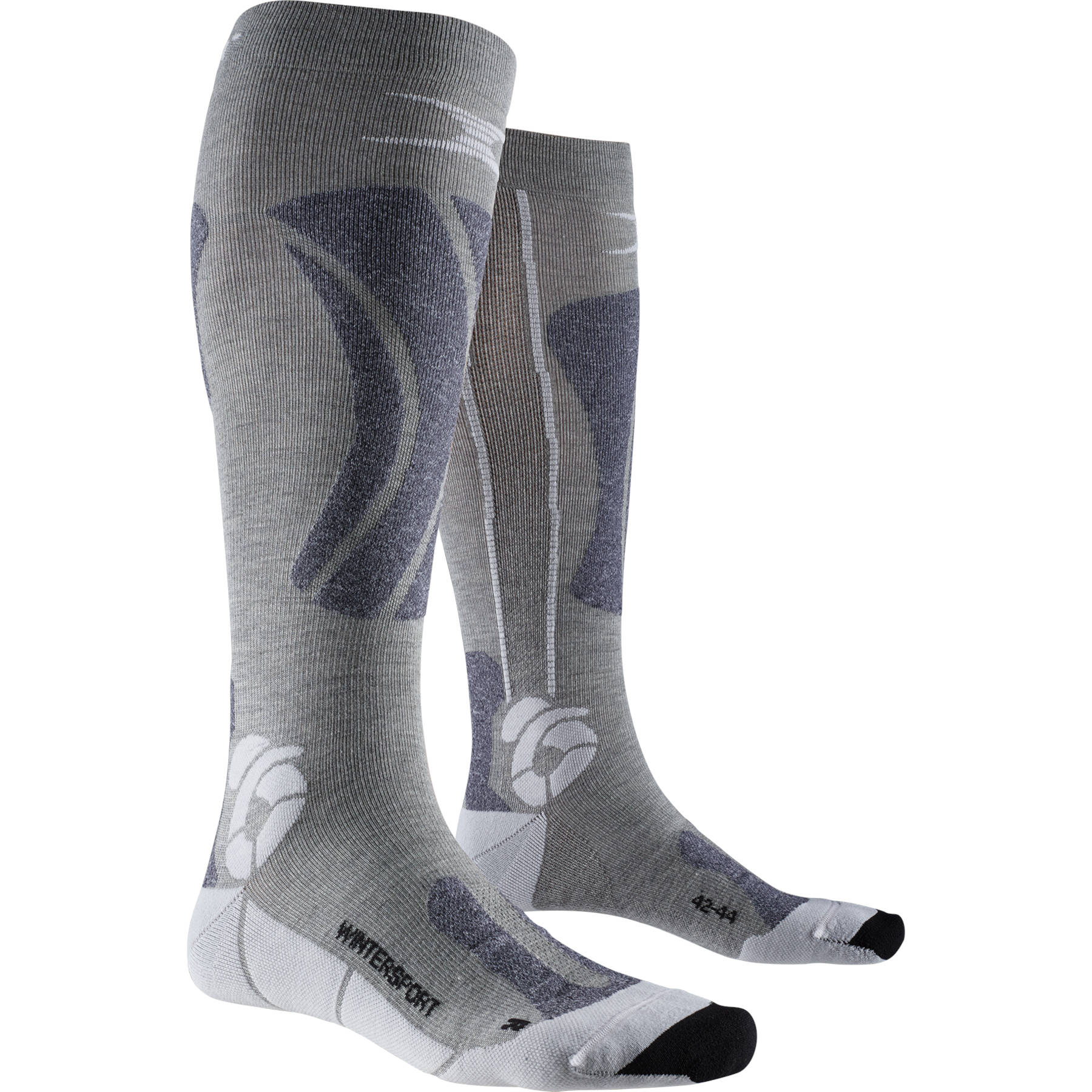 Image of X-Socks Apani Wintersports Socks for Men - black/grey/white