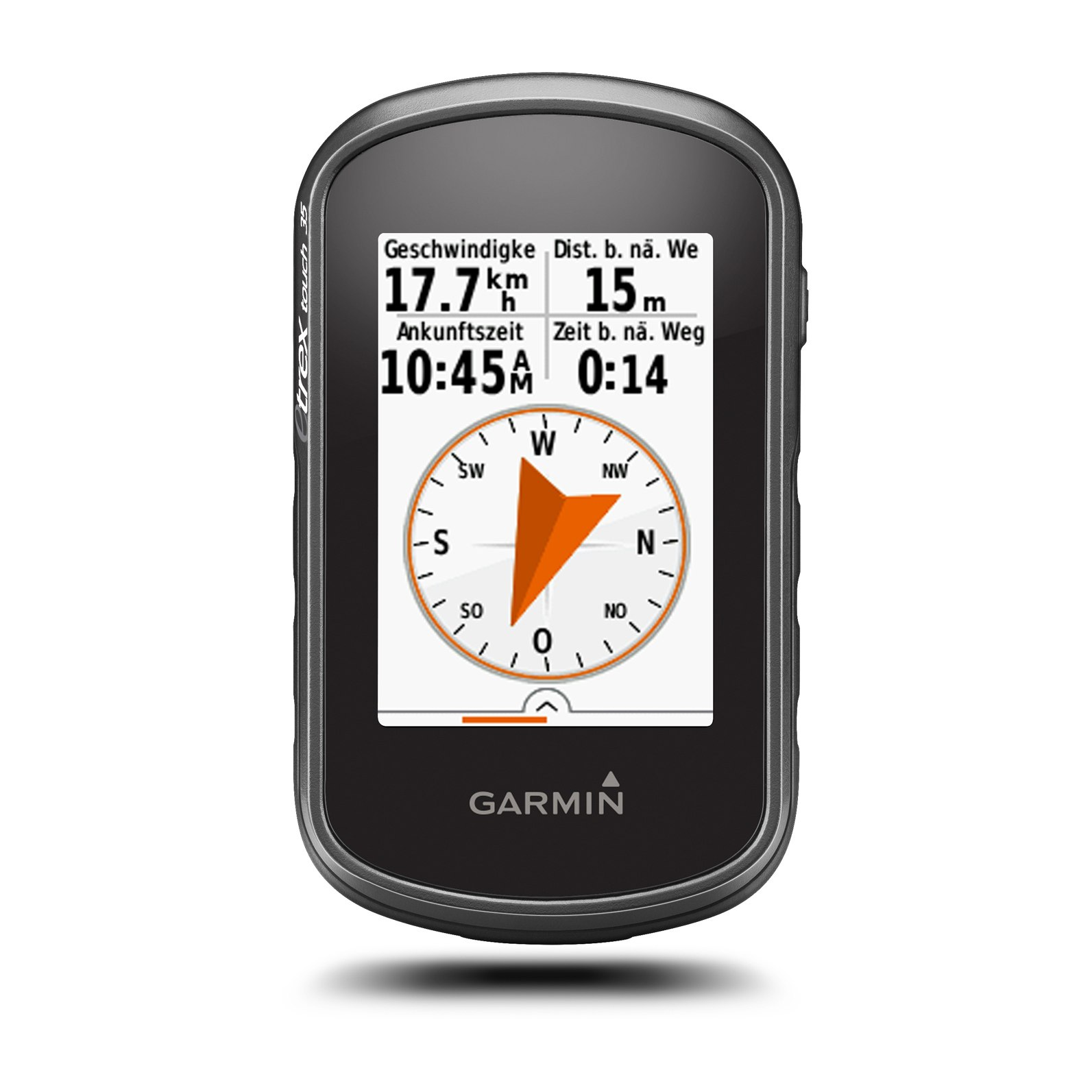 Image of Garmin GPS eTrex Touch 35 Handheld Navigation Device + Topo Active Europe Map - 010-01325-11
