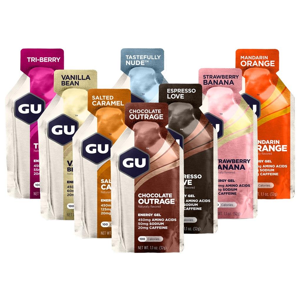 GU Energy Gel with Carbohydrates - Test Bundle - 8x32g