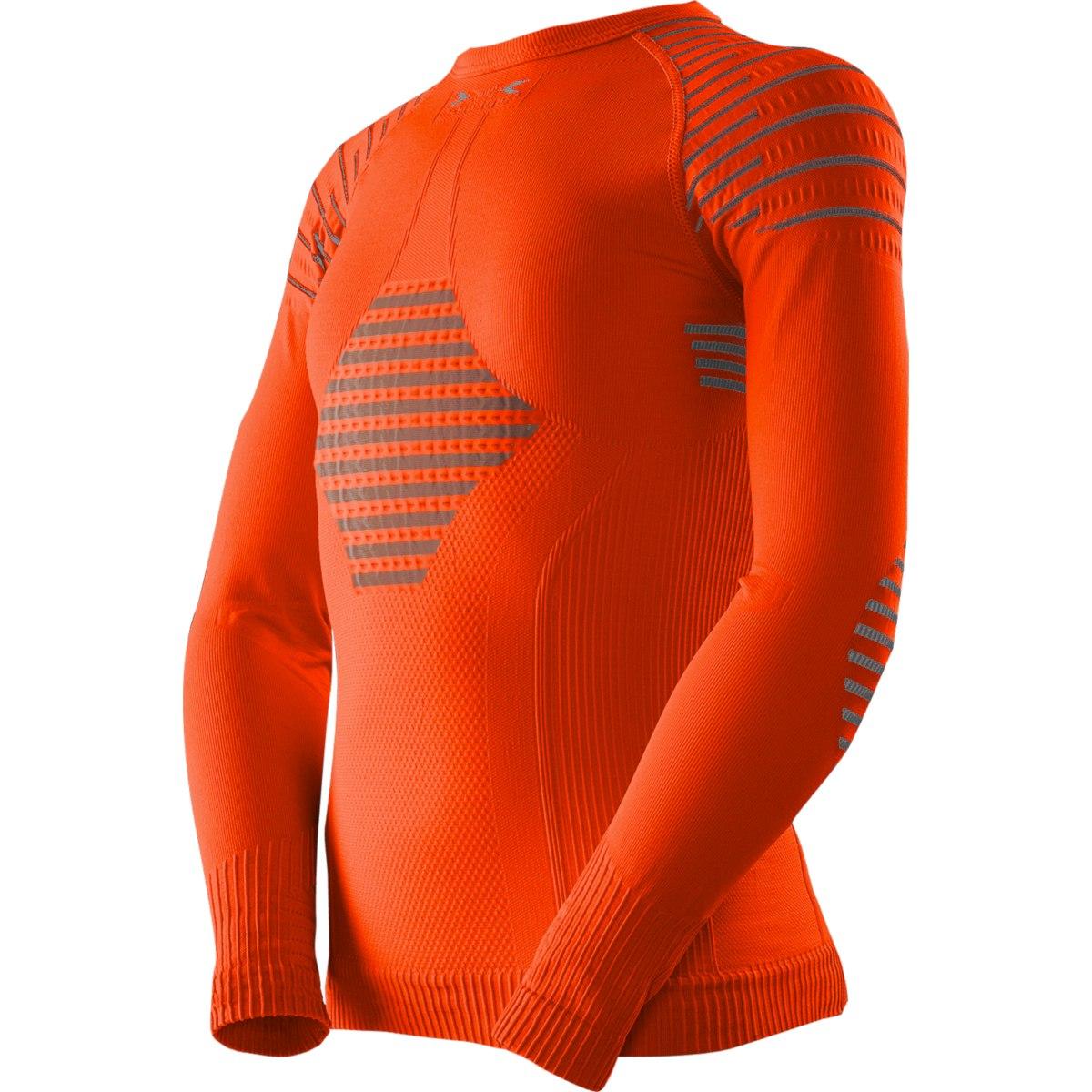X-Bionic Invent 4.0 Shirt Round Neck Camiseta de manga larga para niños - sunset orange/anthracite