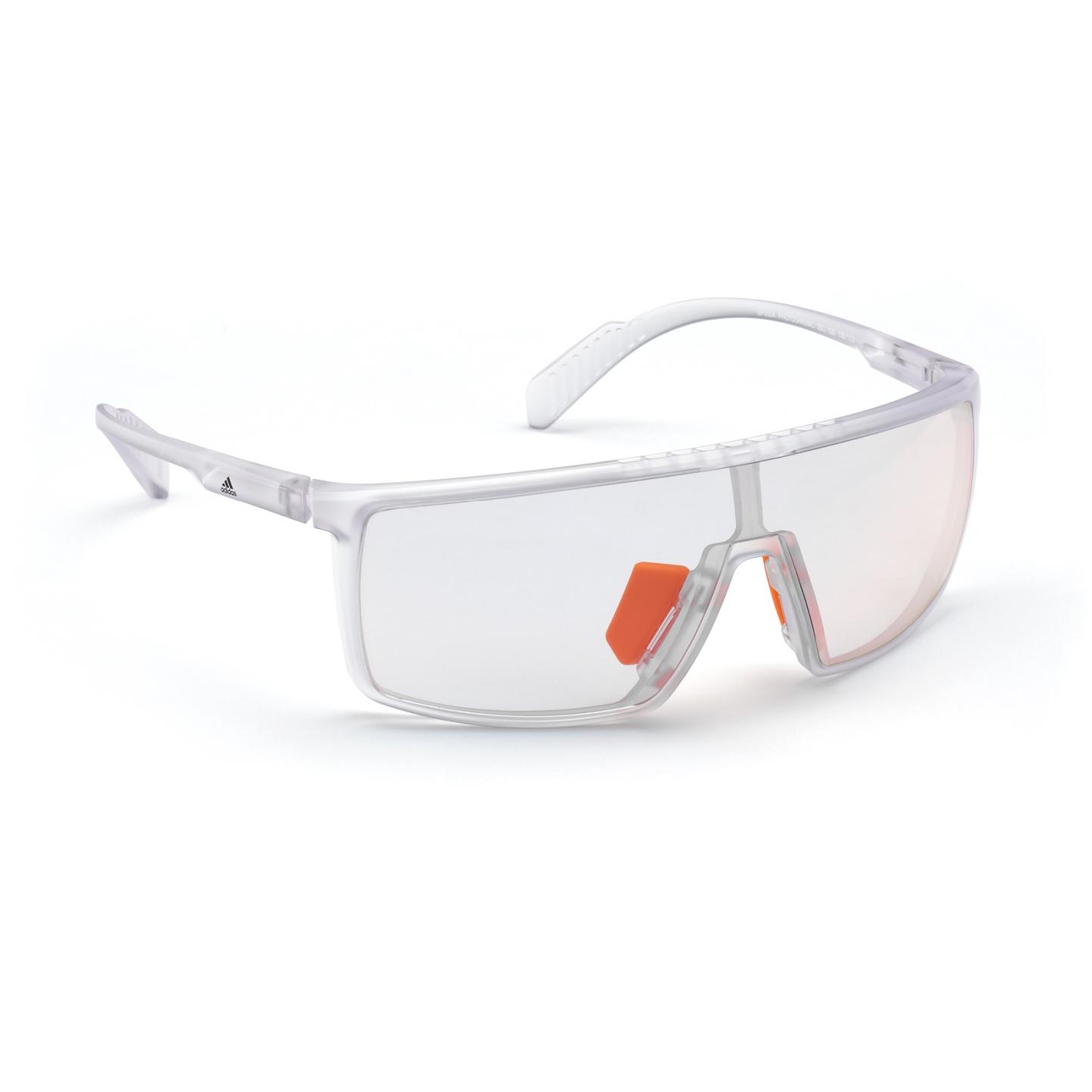 adidas Sp0004 Injected Gafas del Sol Sport - Frosted Crystal / Vario Grey Mirror Orange
