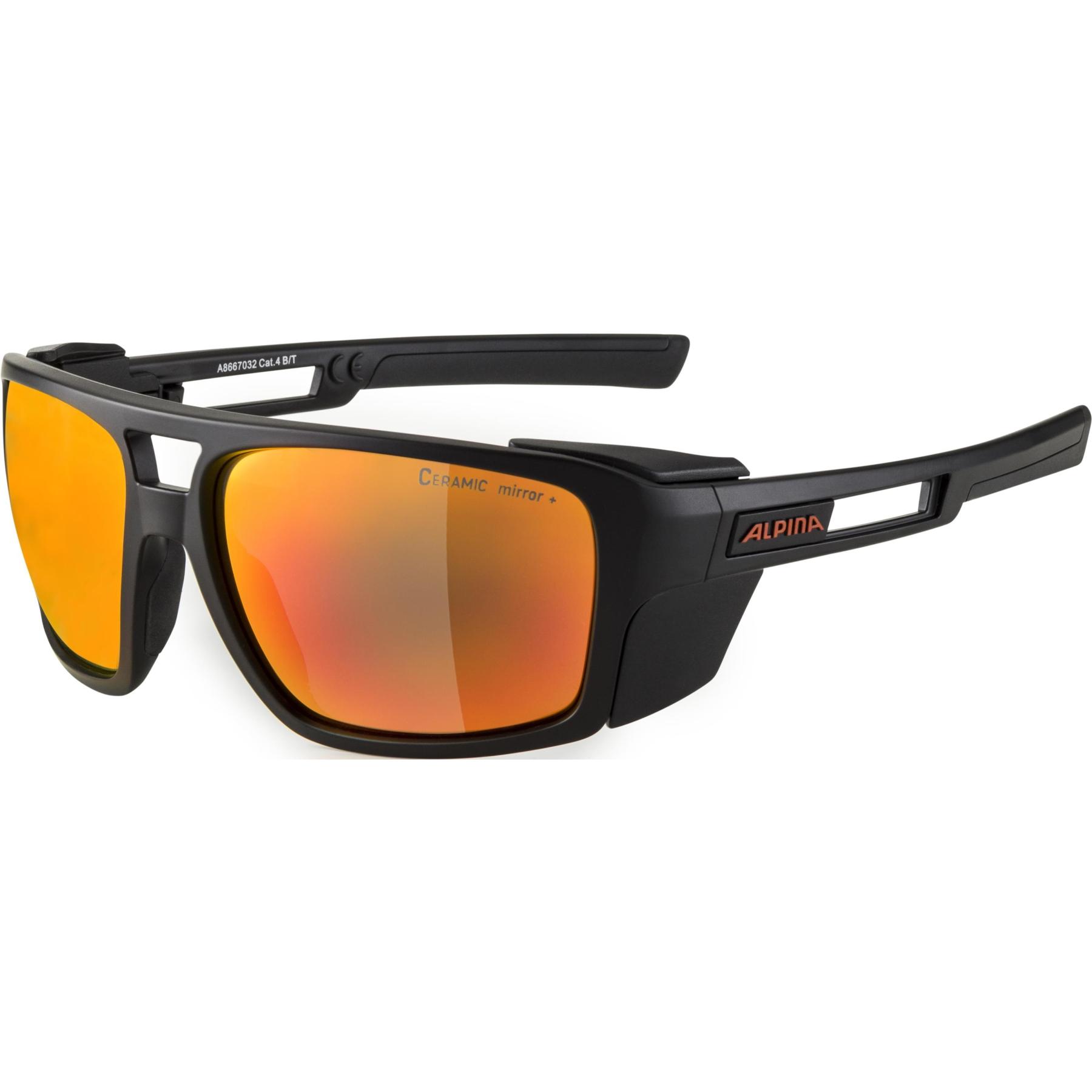 Alpina Skywalsch CM+ Glasses - black matt / red mirror