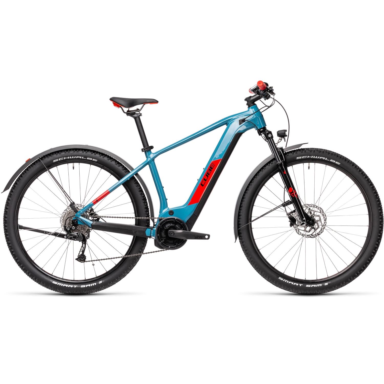 Image of CUBE REACTION HYBRID Performance 625 Allroad - MTB E-Bike - 2021 - blue/red