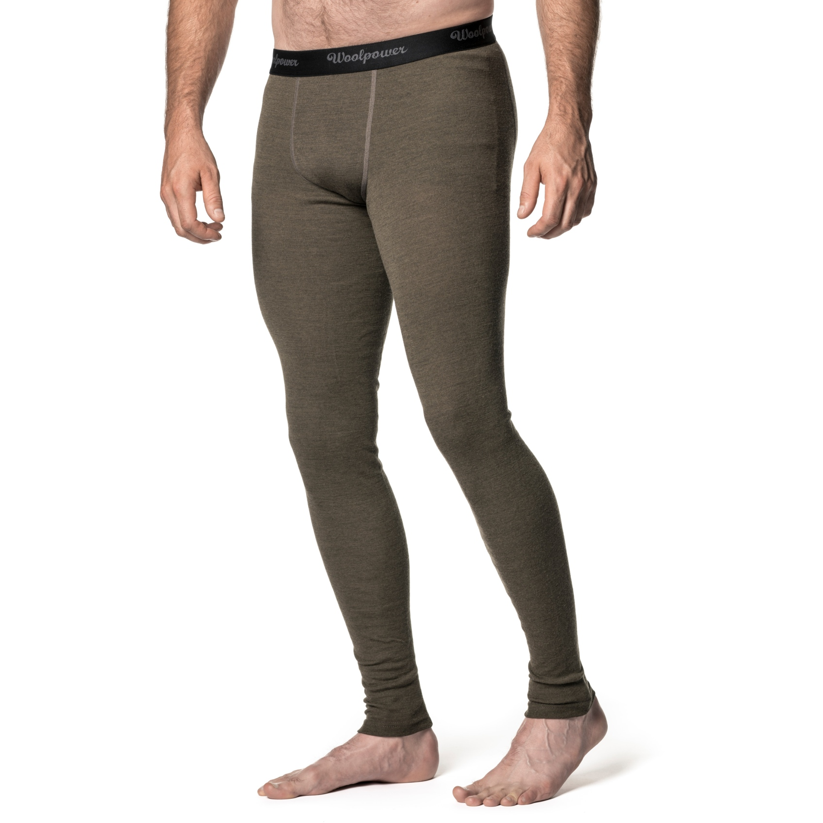 Image of Woolpower Long Johns LITE Underpants/Tights - pine green