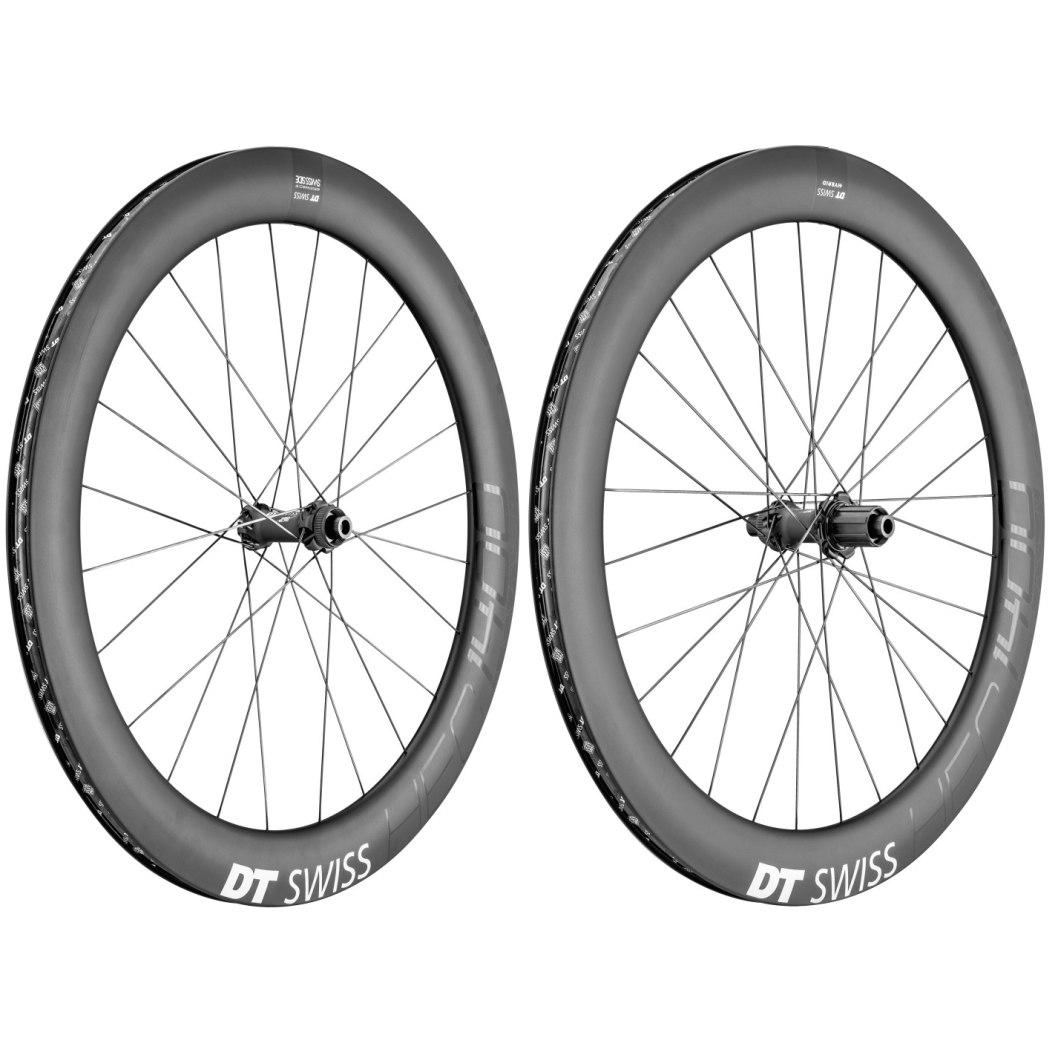 "DT Swiss HEC 1400 Spline Carbon db 62 - 29"" / 700C Wheelset - Clincher - Centerlock / 6 Bolt - FW: 12x100mm | RW: 12x142mm"