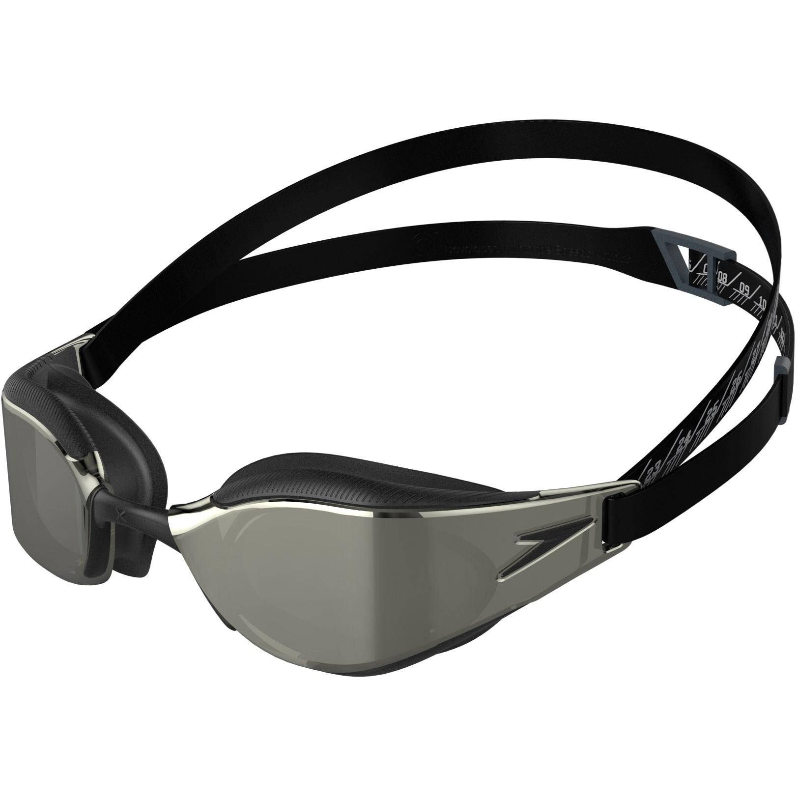 Produktbild von Speedo Fastskin Hyper Elite Mirror Schwimmbrille - black/oxid grey/chrome