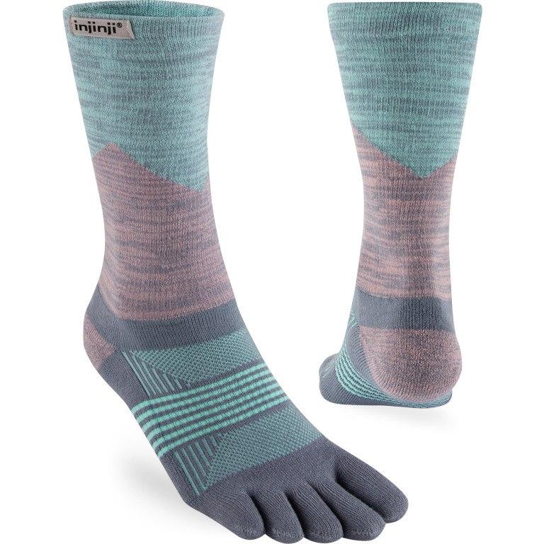 Image of Injinji Women's Trail Midweight Crew Socks - quartz