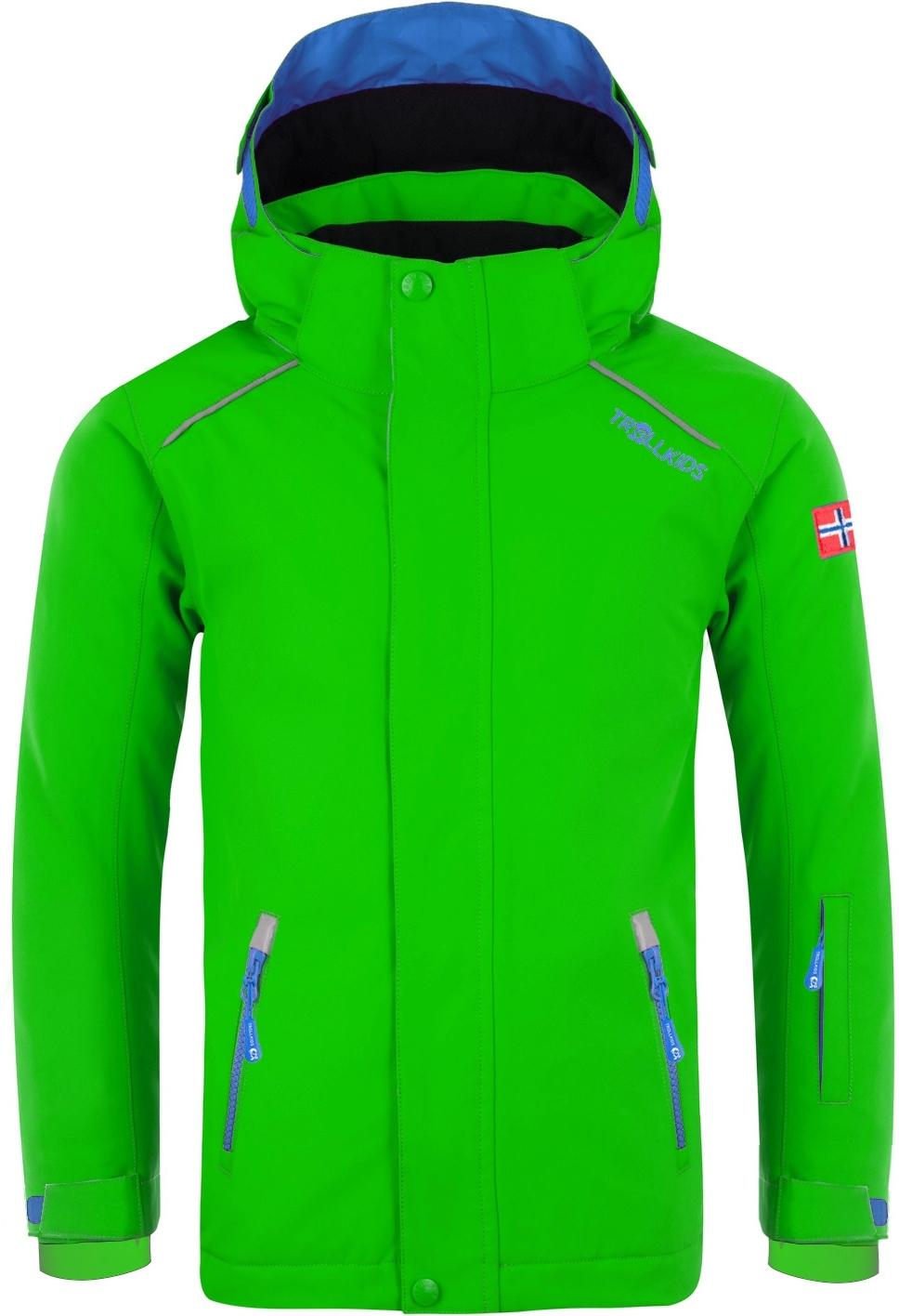 Trollkids Holmenkollen PRO Kids Snow Jacket - Bright Green