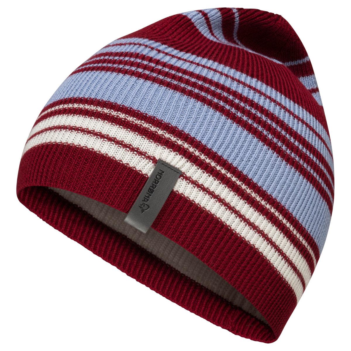 Norrona /29 striped light weight Beanie - Rhubarb