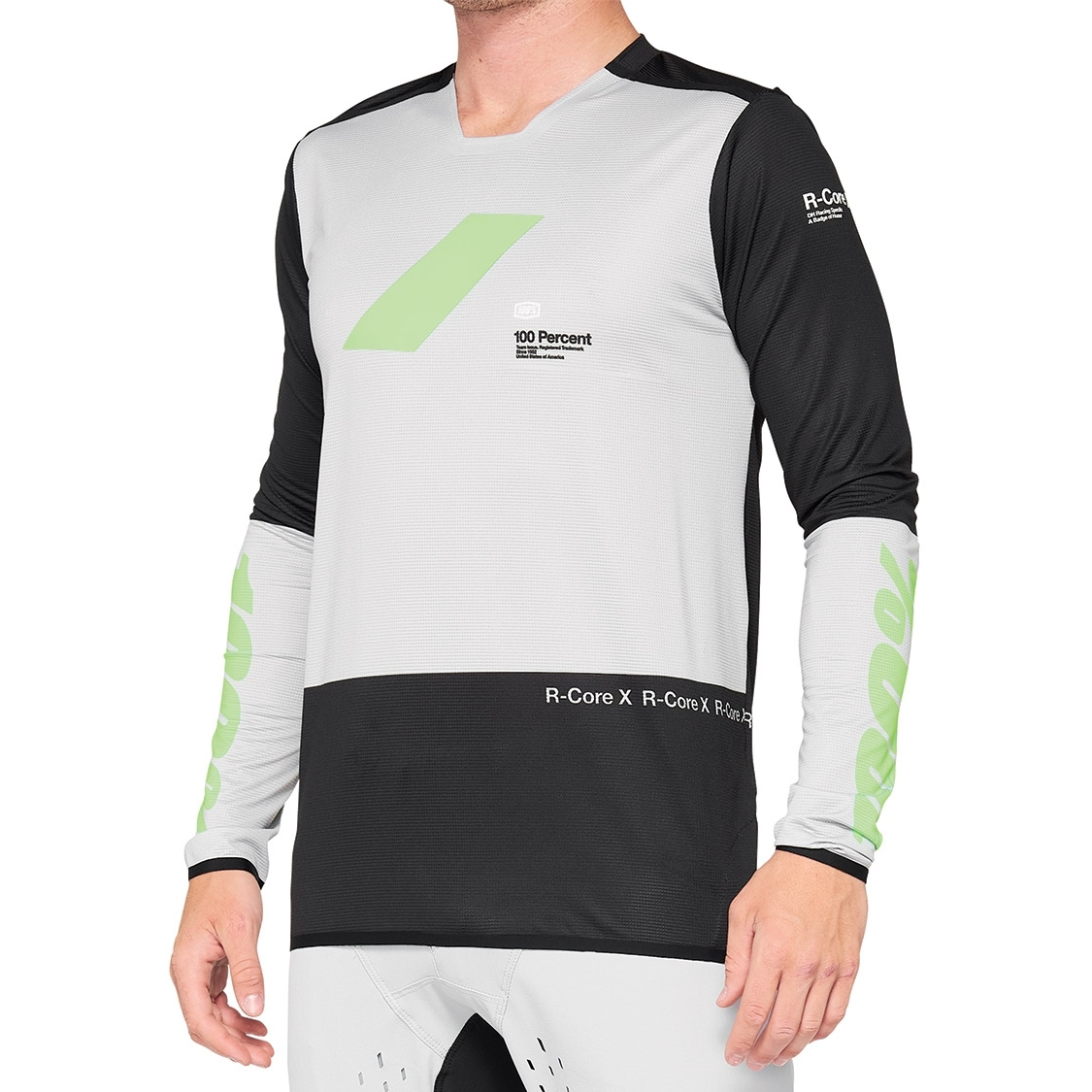 100% R-Core X Jersey - vapor/black