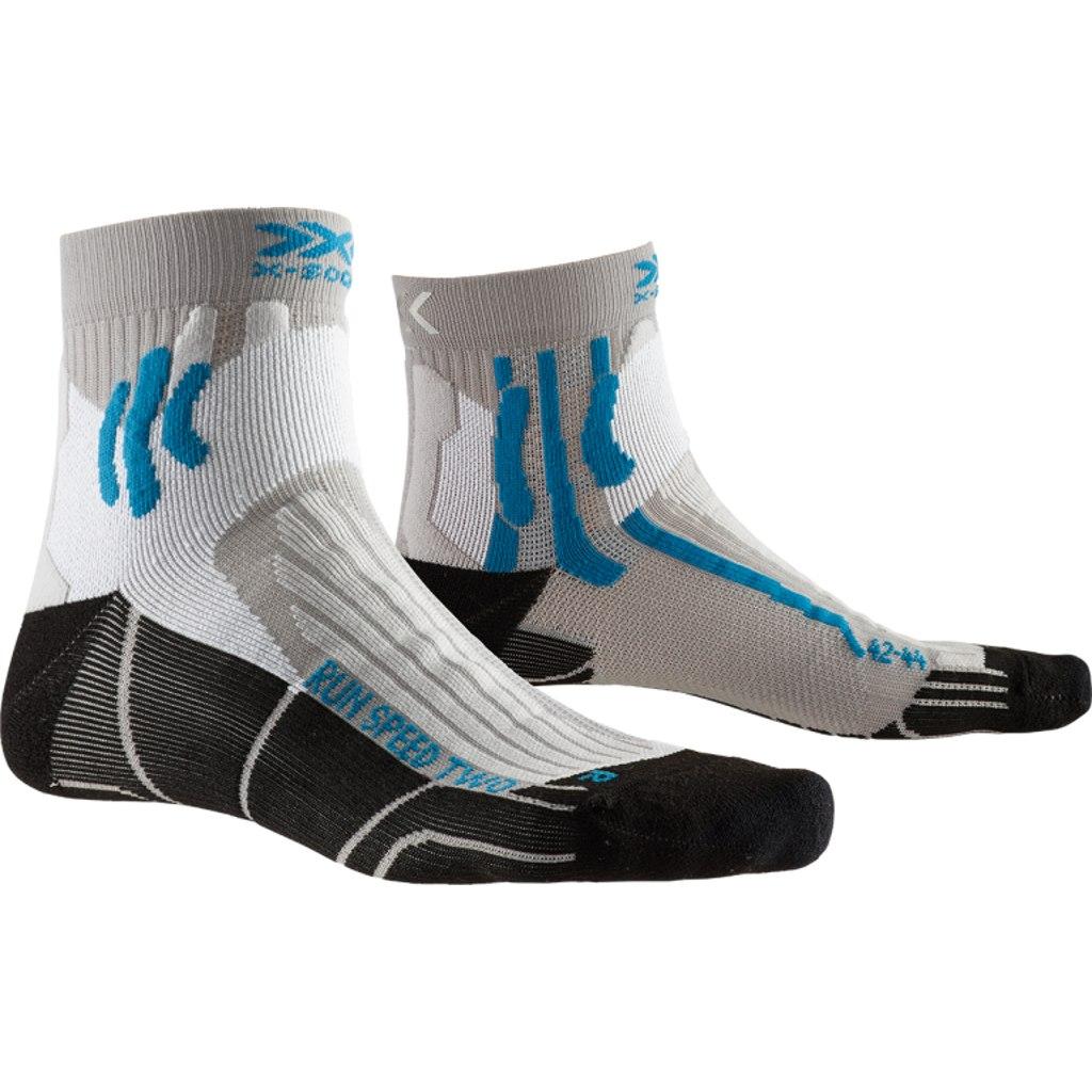 X-Socks Run Speed Two Socks Laufsocken - pearl grey/opal black