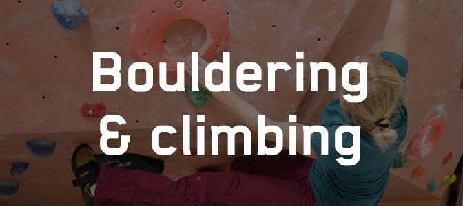Bouldering and climbing will get you fit to climb the mountains by bike too!