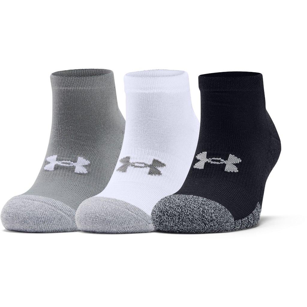 Foto de Under Armour HeatGear Lo Cut Socks – 3-Pack - Steel/White/White