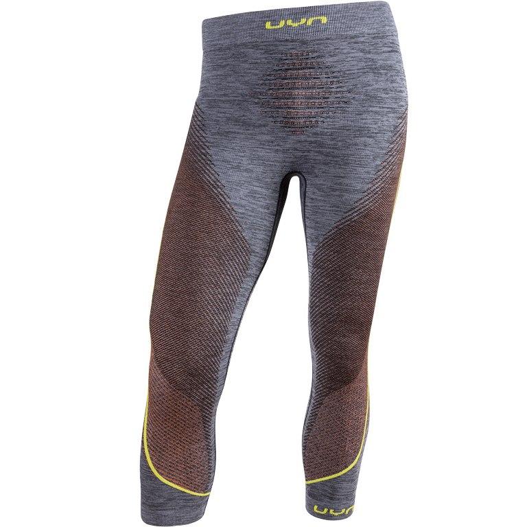 Image of UYN Ambityon Underwear 3/4 Pants - Black Melange/Orange/Yellow