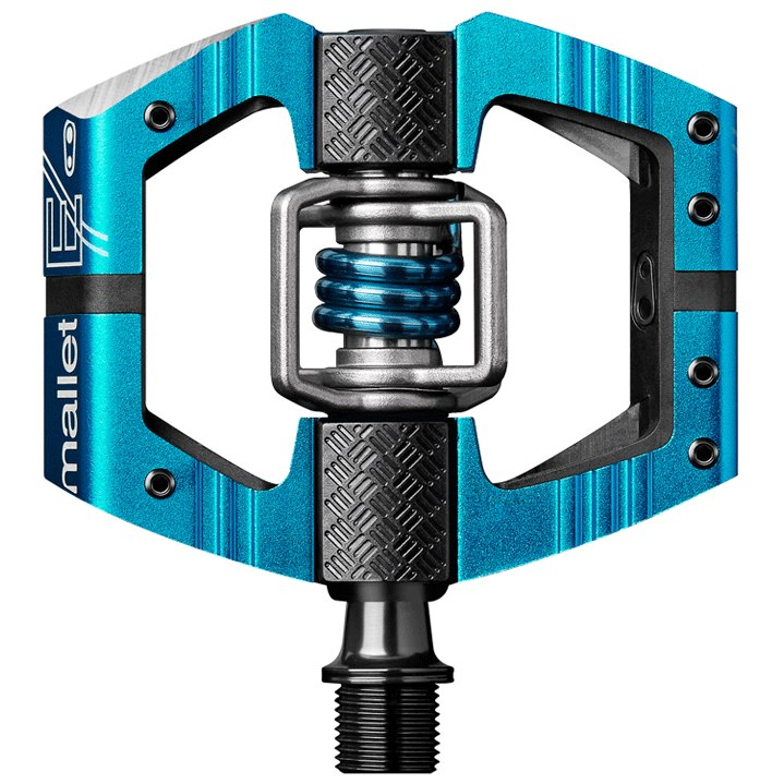 Crankbrothers Mallet E Enduro Pedal - electric blue