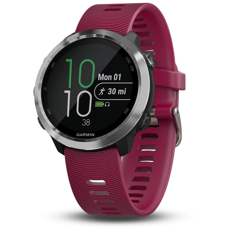 Garmin Forerunner 645 Music GPS Smartwatch - Kirschrot/Silber 010-01863-31