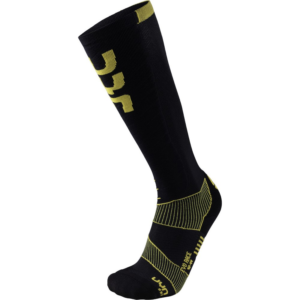 UYN Man Ski Evo Race Socken - Black/Yellow