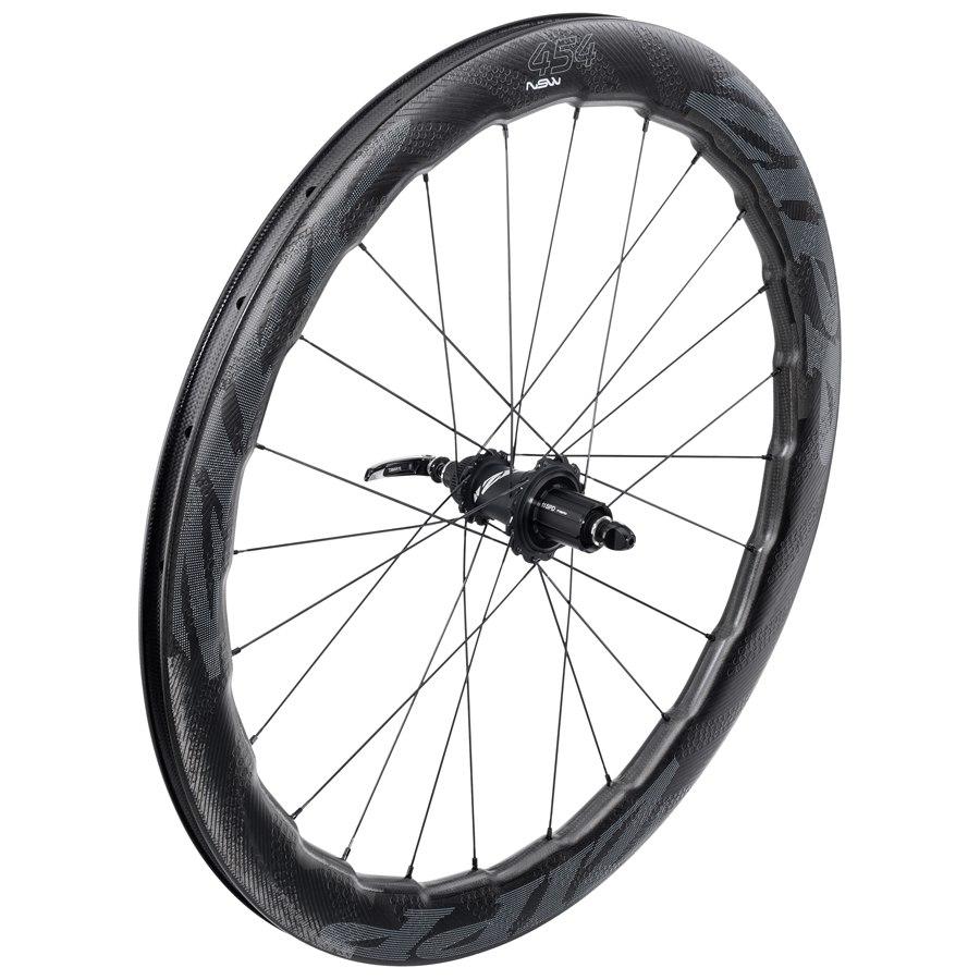 Bild von ZIPP 454 NSW Carbon Clincher Disc-Brake Hinterrad - Drahtreifen - Centerlock - 12x135/142mm/QR