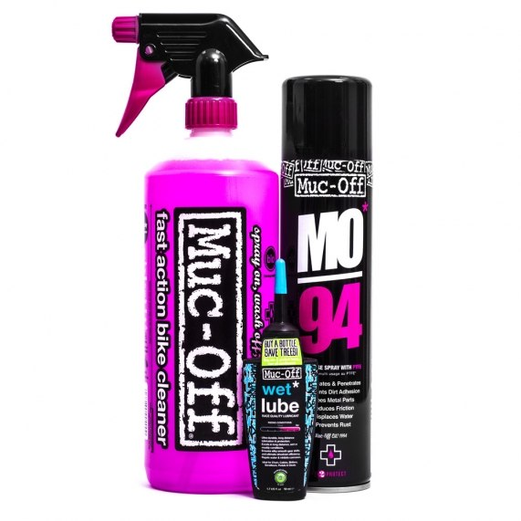 Muc-Off Wash Protect and Wet Lube Kit