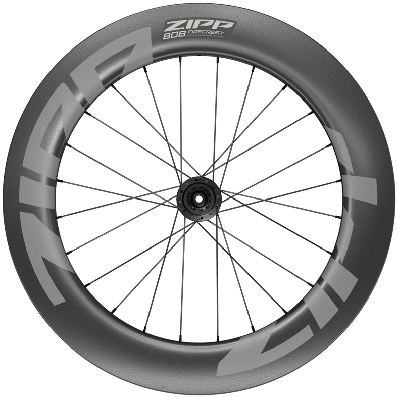 ZIPP 808 Firecrest Carbon Hinterrad - Drahtreifen - Centerlock - 12x142mm - Shimano/SRAM 10/11f - schwarz