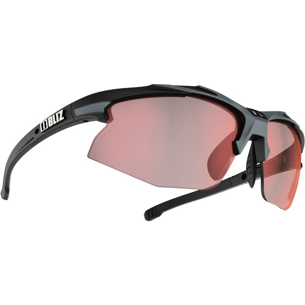 Bliz Hybrid Small Matt Black-Grey / ULS Photochromatic Brown with Red Multi Glasses