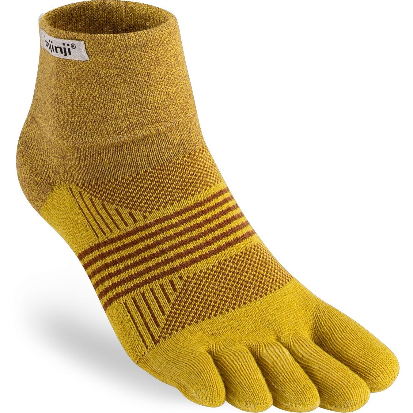 Injinji Women's Trail Midweight Mini Crew Socks - biscuit