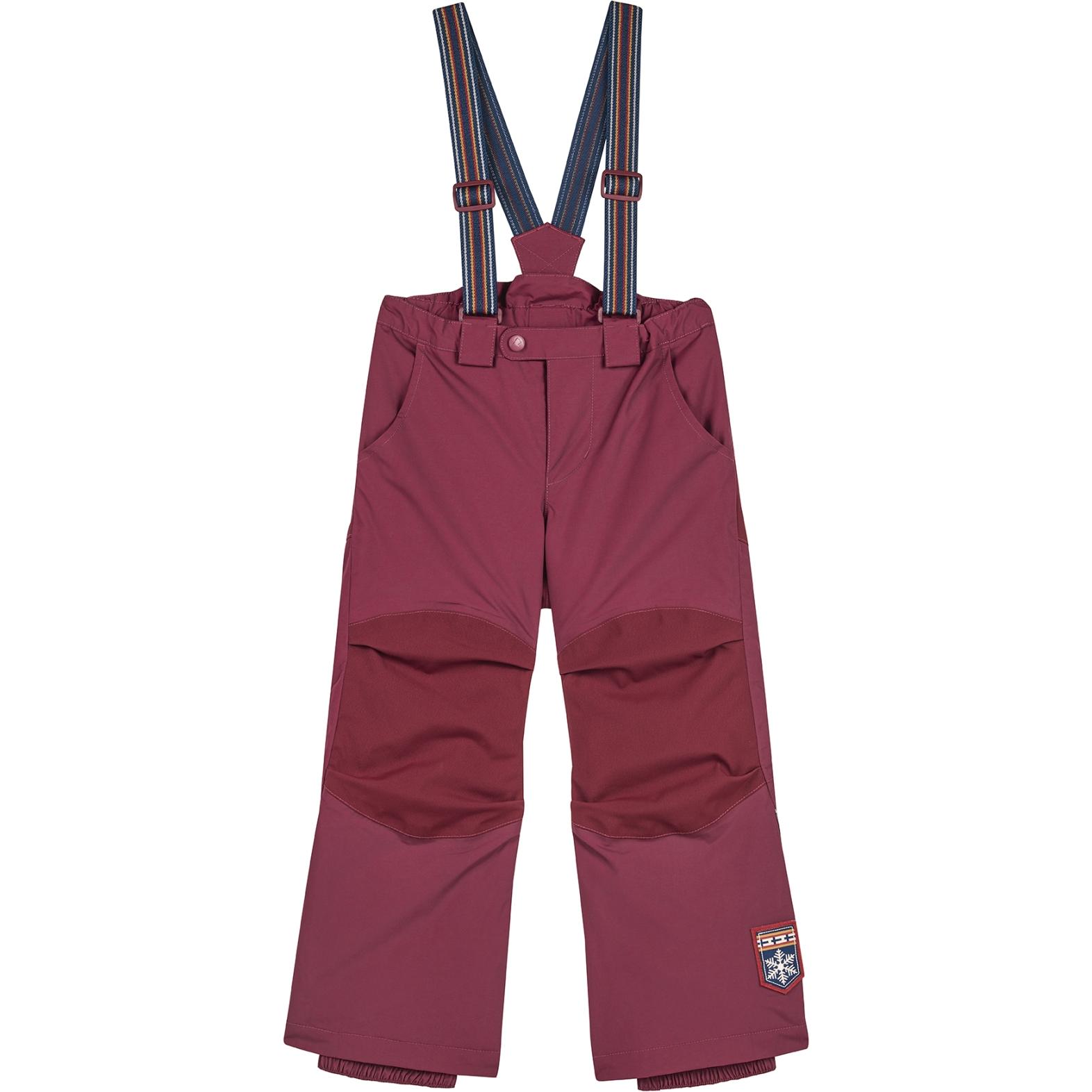 Finkid ROMPPA PLUS Kids Winter Snow Pants - beet red