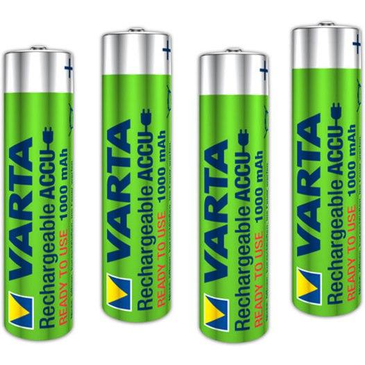 Varta Rechargeable Accu AAA 1000mAh - 4 pieces