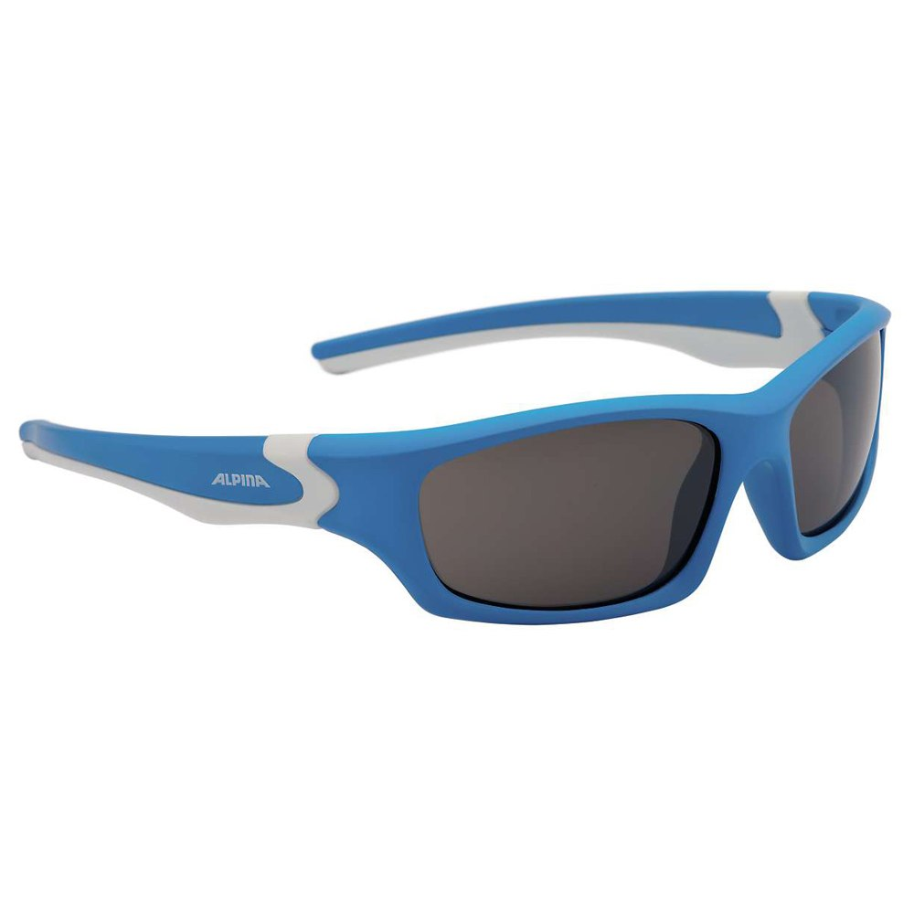 Image of Alpina Flexxy Teen - cyan-white / CeramiC mirror black - Kids Glasses