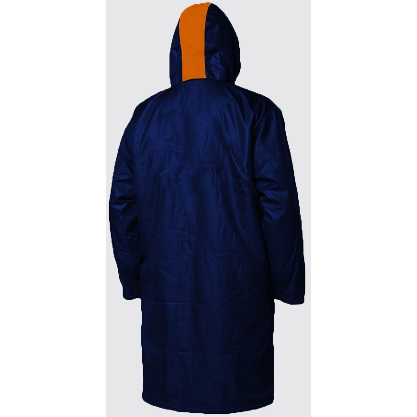 Image of Zone3 Polar Fleece Parka Robe Jacket - Navy/Grey/Orange