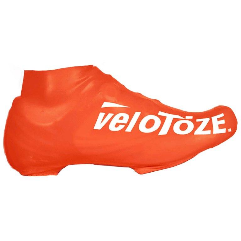 veloToze Short Shoe Cover Road - Überschuh Kurz - viz-orange