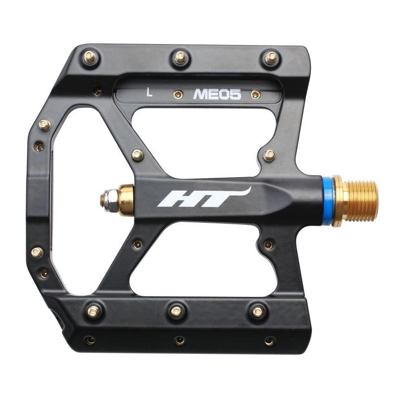 HT ME05T EVO+ Flat Pedal Magnesium / Titanium - black
