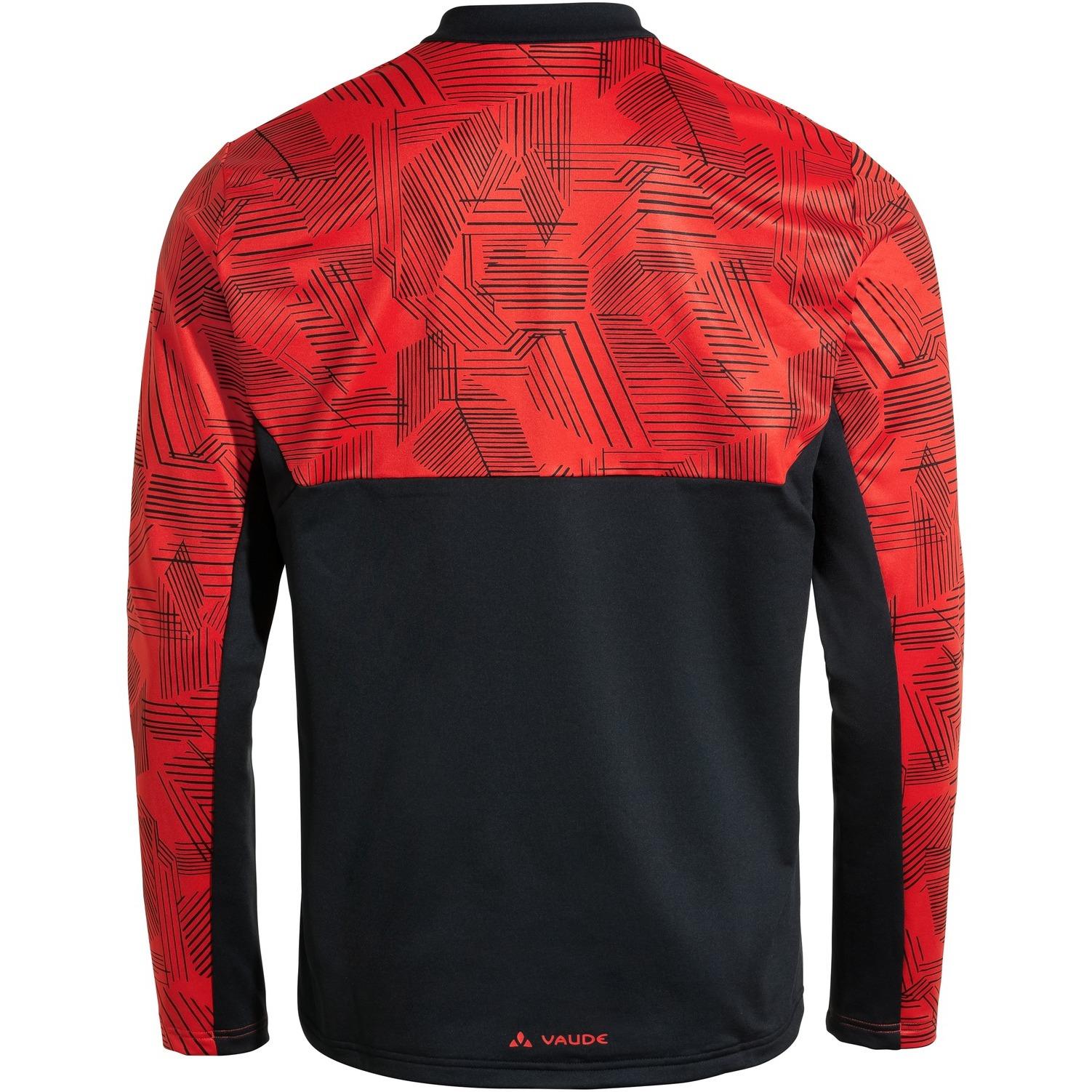 Image of Vaude Men's Virt QZip LS T-Shirt - mars red