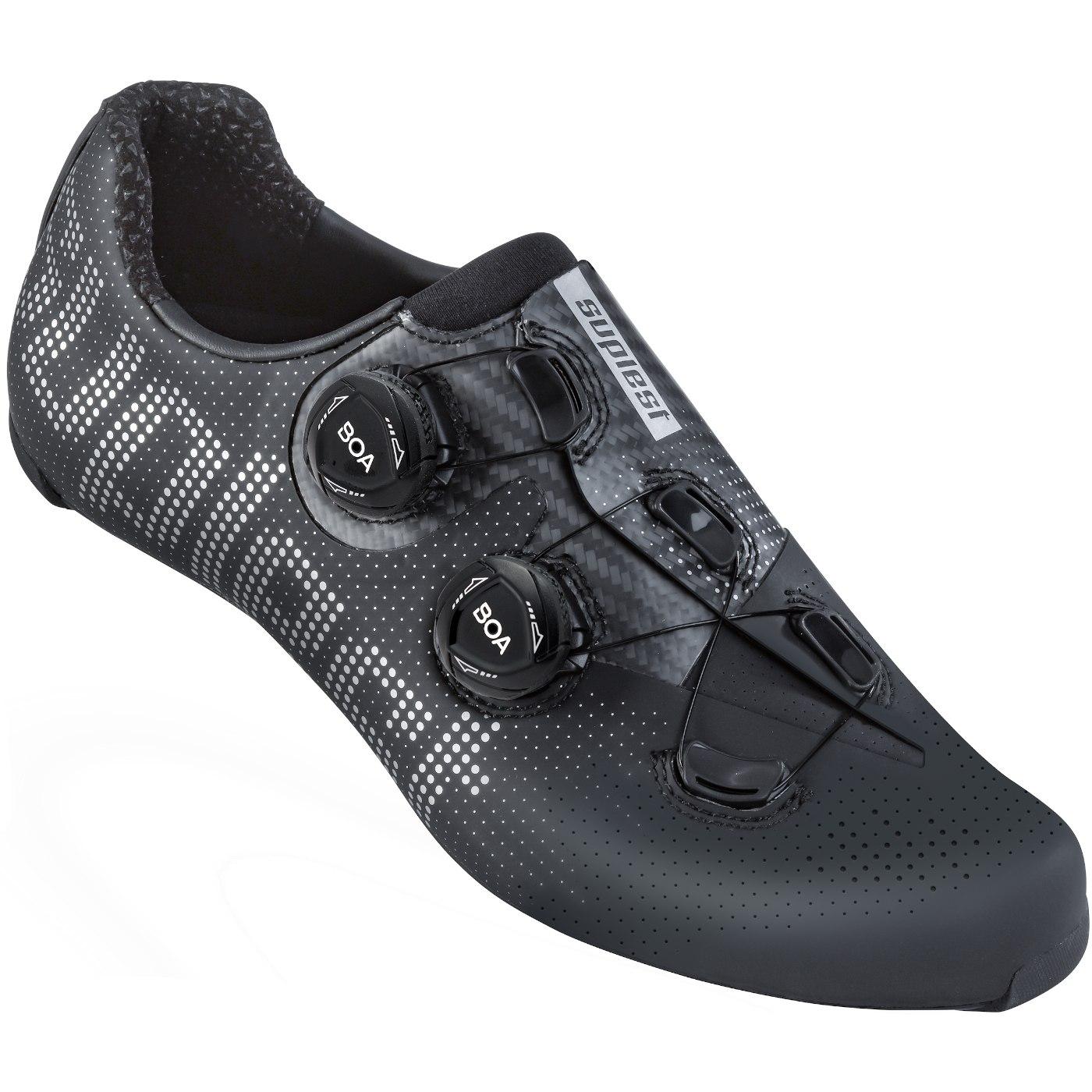 Suplest EDGE+ Double BOA IP1 Road Pro Shoe - Black / Silver 01.063.