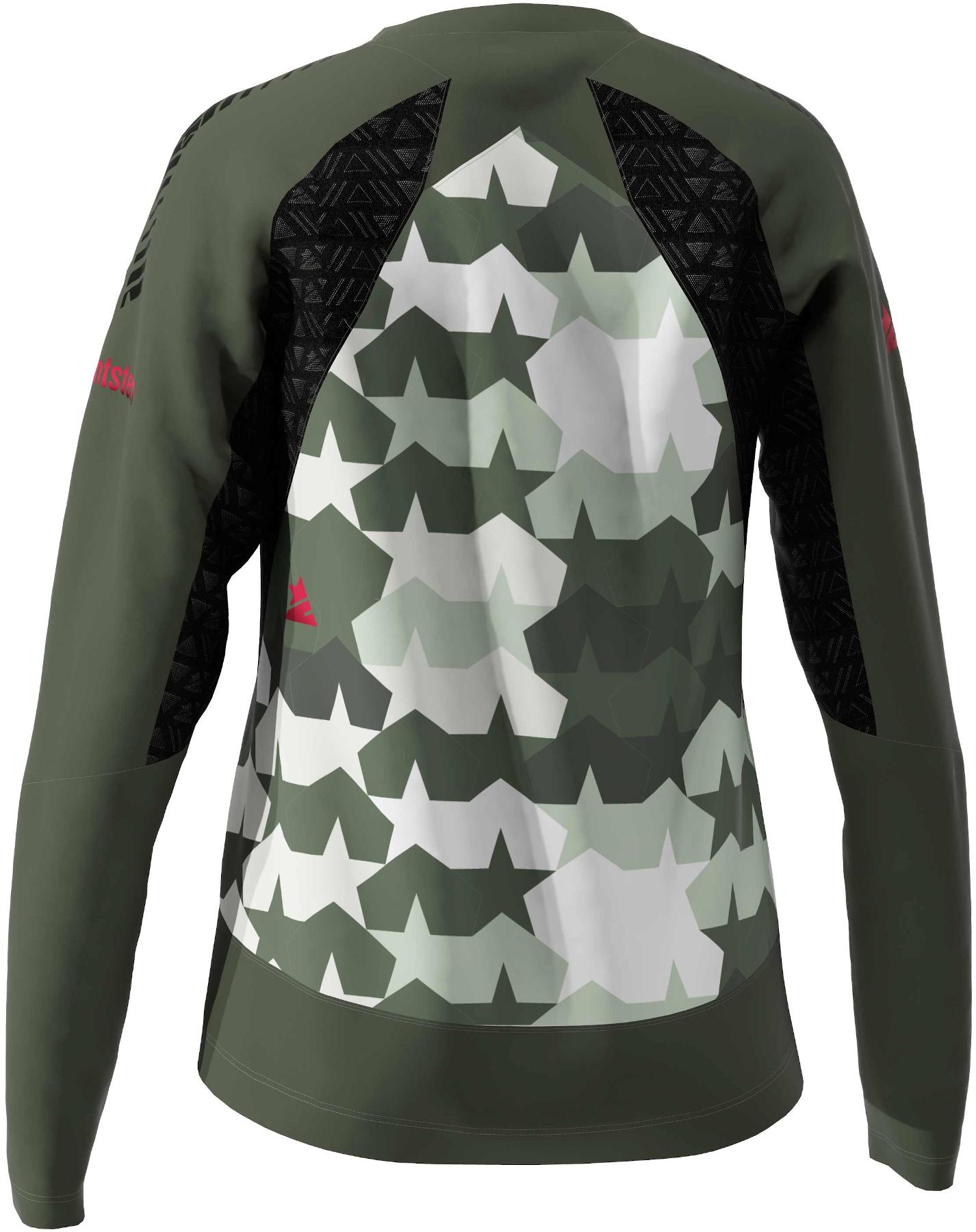 Bild von Zimtstern TechZonez MTB-Langarmshirt für Damen - fog green/forest night/jester red