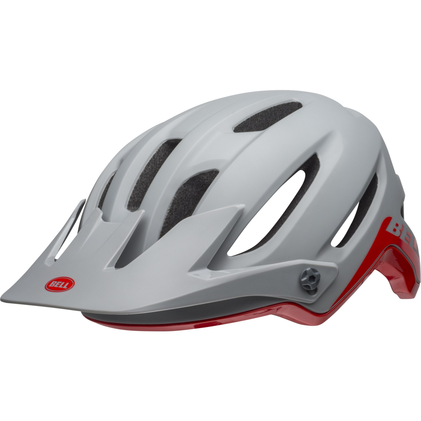 Image of Bell 4Forty MIPS Helmet - cliffhanger matte/gloss dark gray/crimson