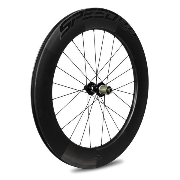 Veltec Speed 8.0 Disc Carbon Hinterrad - Drahtreifen - 12x142mm - schwarz mit schwarzen Decals