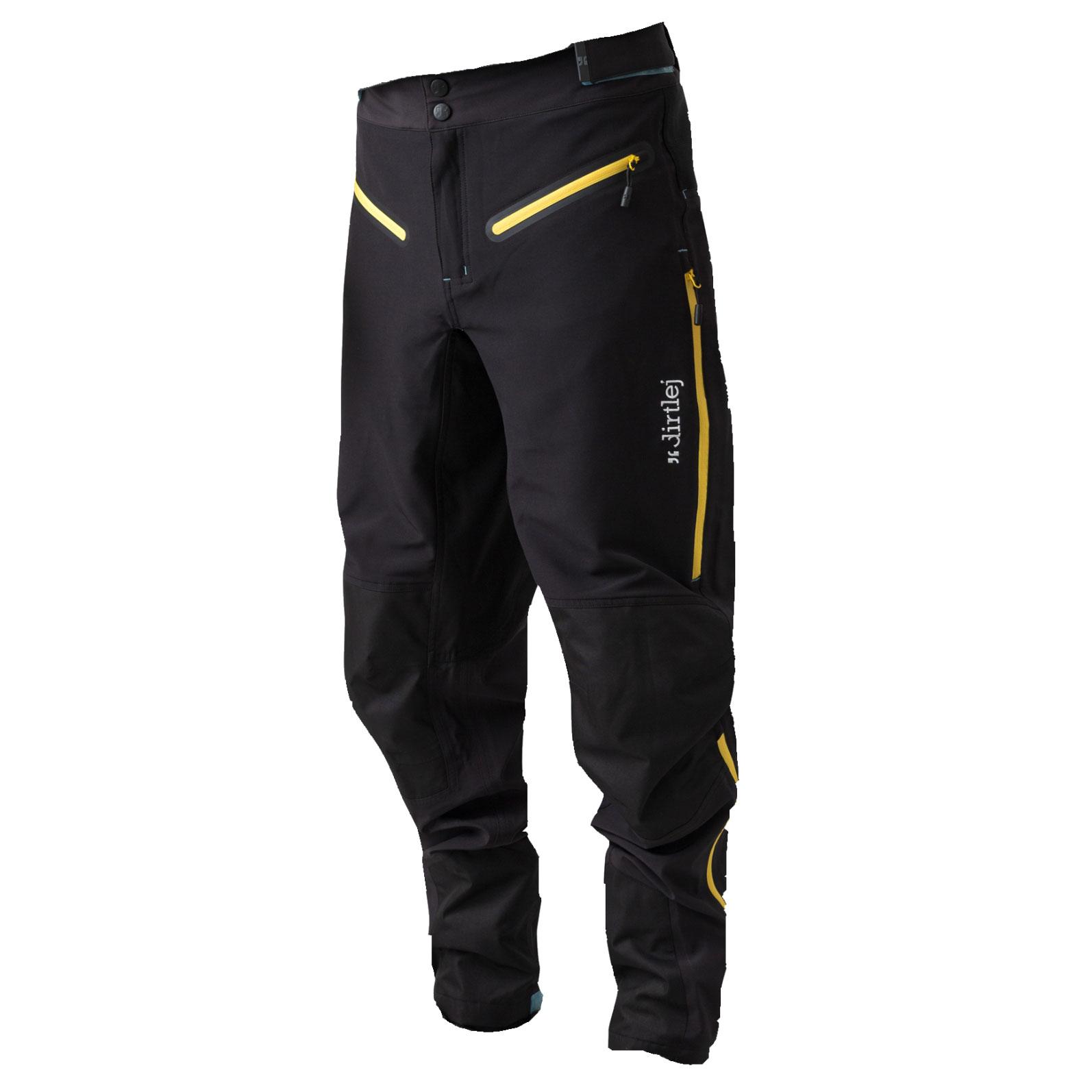 Foto de Dirtlej Trailscout Half & Half Pantalones para Hombres - black/yellow