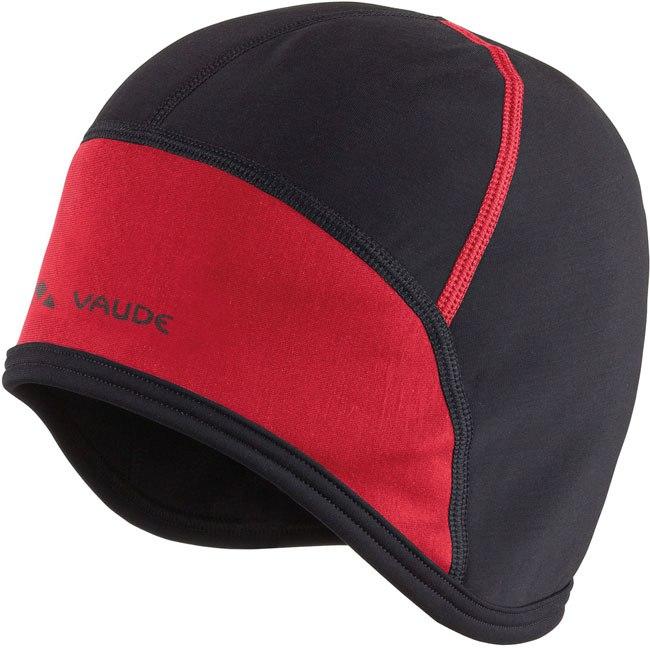 Vaude Bike Cap Unterhelm - schwarz/rot