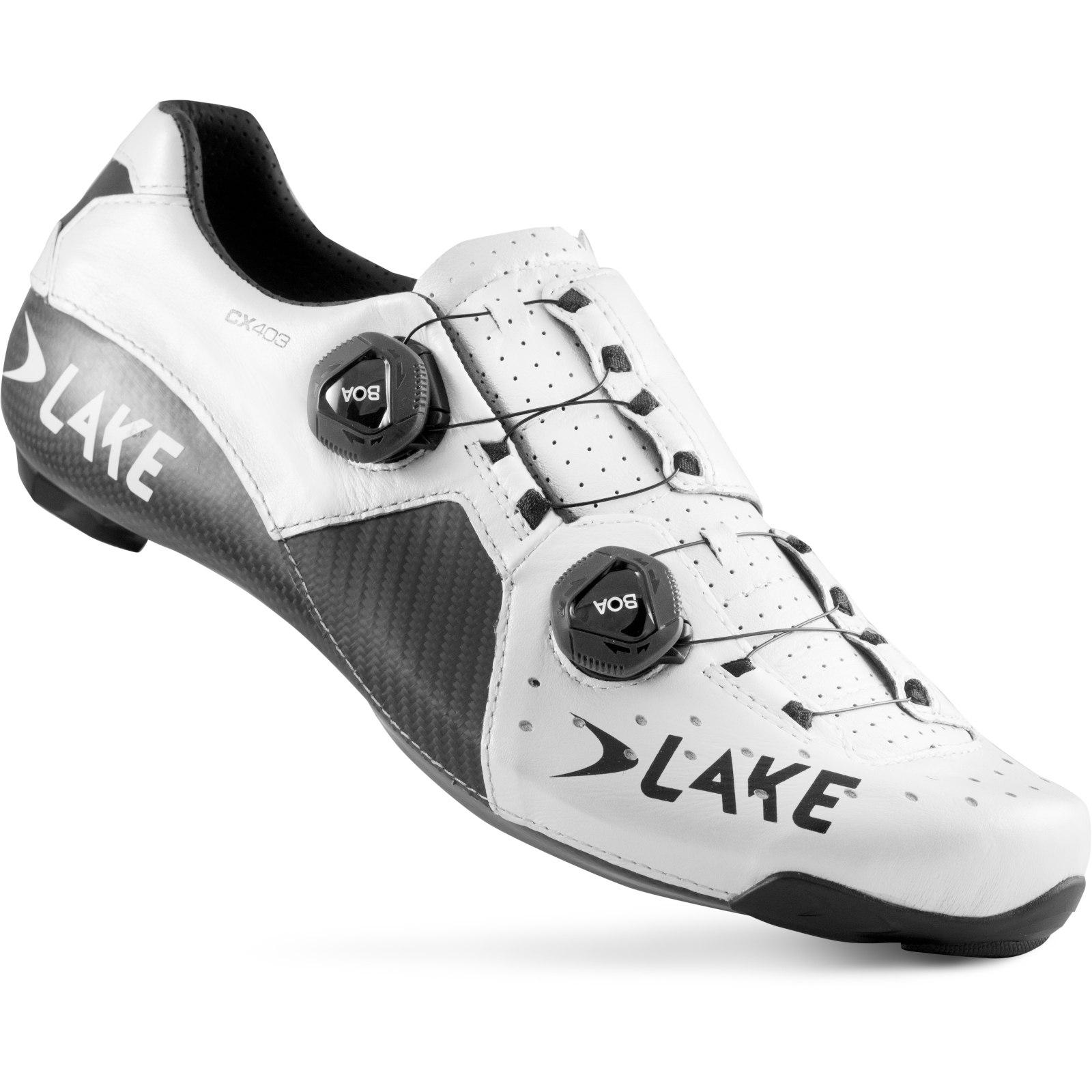 Lake CX403 W Damen-Rennradschuh - weiß/schwarz