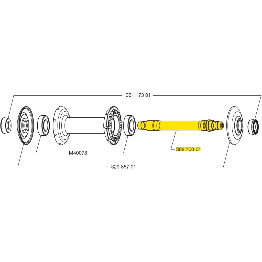 Image of Mavic Front Wheel Axle for Cosmic Carbone CXR 80 - 30870001