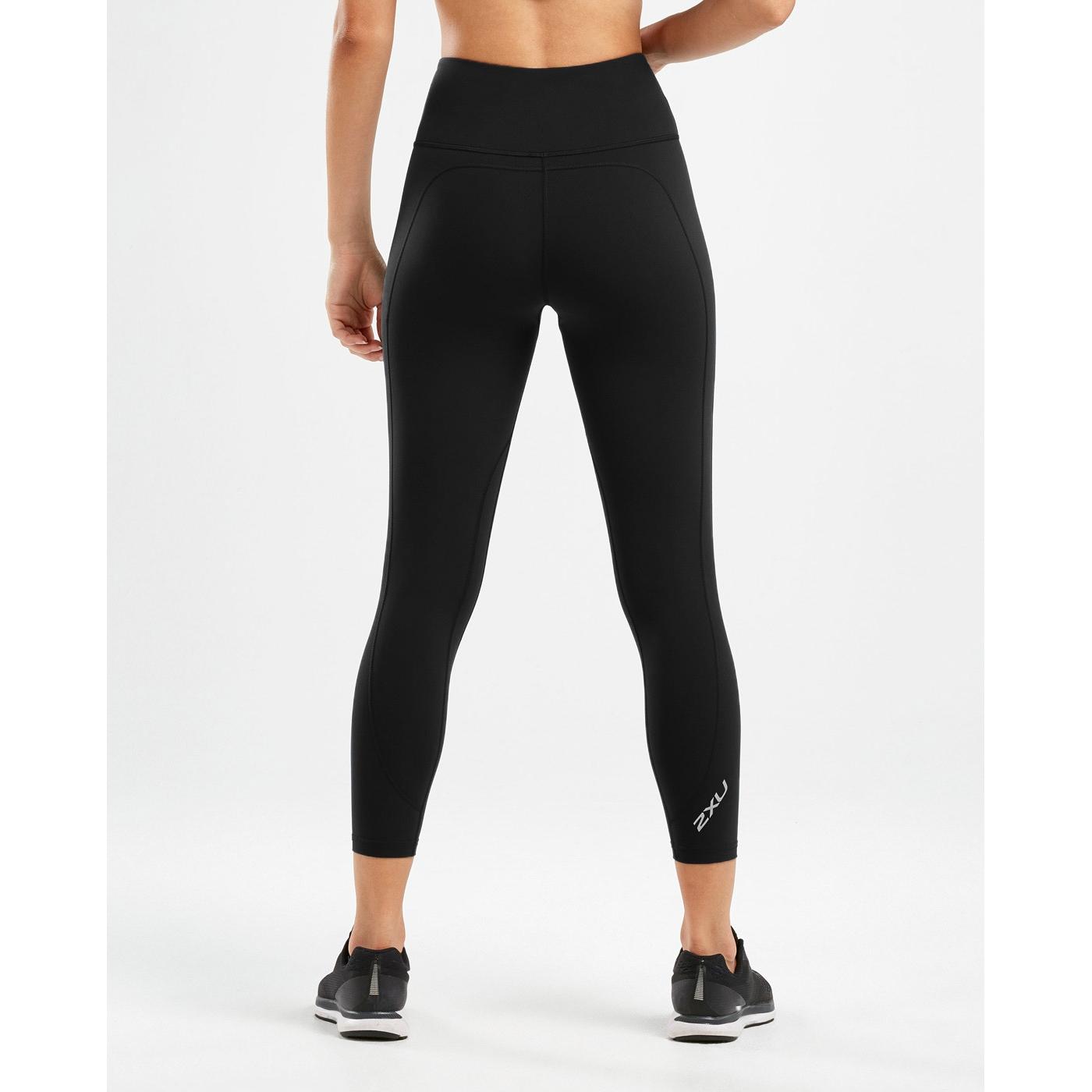 Imagen de 2XU Fitness Hi-Rise Compression Mallas de 7/8 para mujer - Tall - black/black