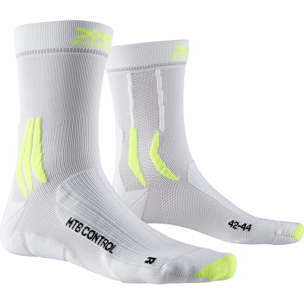 Bild von X-Socks MTB Control Socken - arctic white/phyton yellow