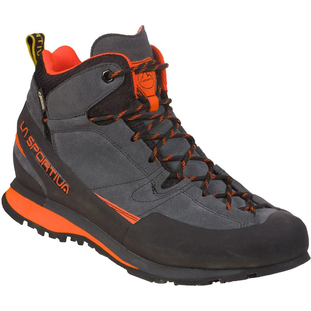 La Sportiva Boulder X Mid GTX Approach Shoes - Carbon/Flame