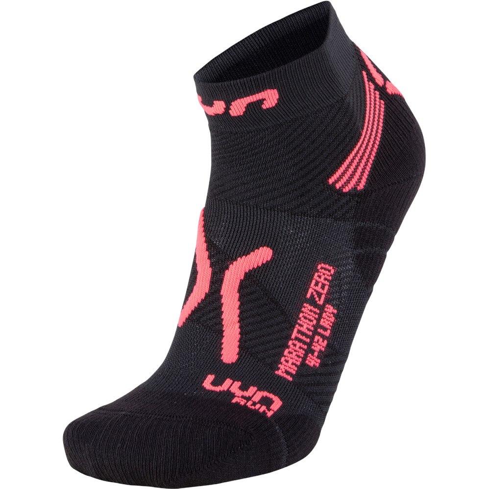 UYN Running Marathon Zero Socken Damen - Black/Coral Fluo