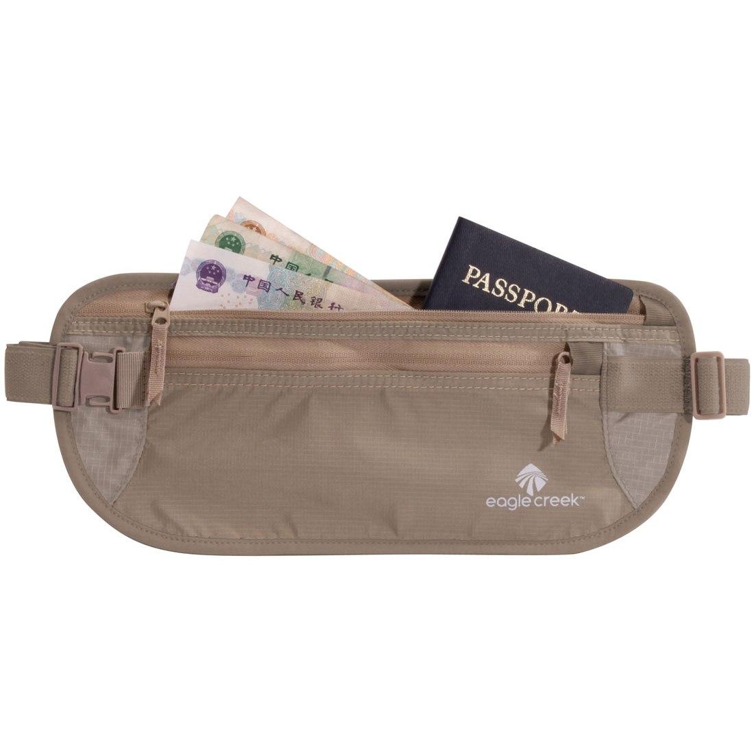 Image of Eagle Creek Undercover Money Belt DLX Wallet - khaki