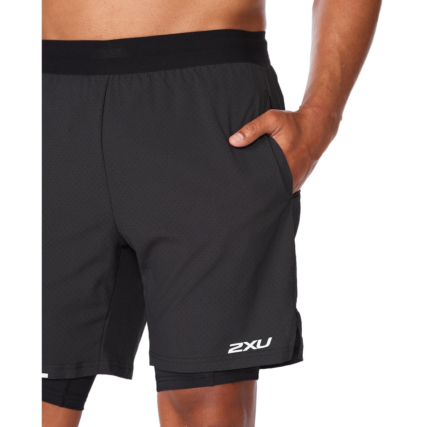 "Imagen de 2XU Aero 2-In-1 7"" Pantalon corto de correr - black/silver reflective"